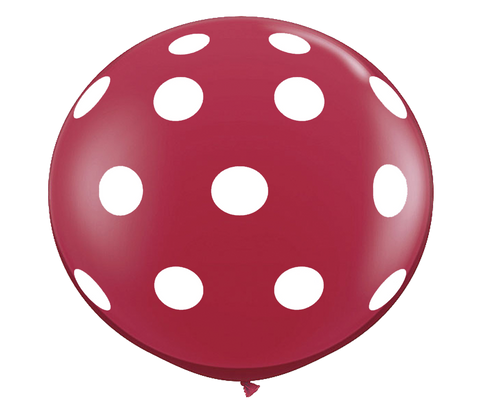 "36"" Ruby Red Polka Dot Balloon"