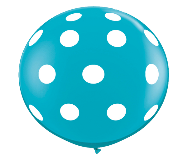 "36"" Tropical Teal Polka Dot Balloon"