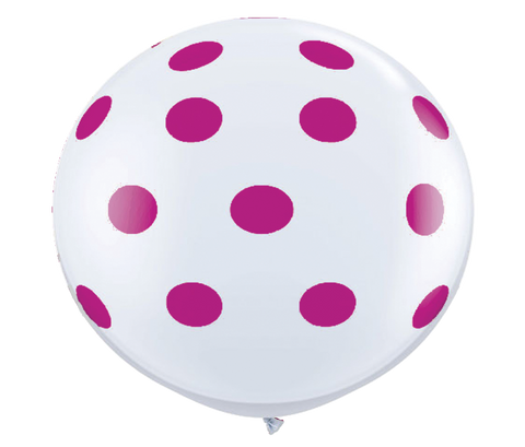 "36"" Wildberry Reverse Polka Dot Balloon"