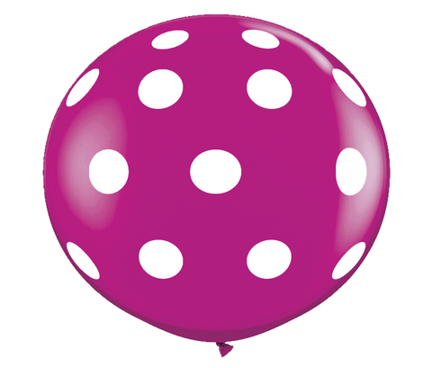 "36"" Wildberry Polka Dot Balloon"
