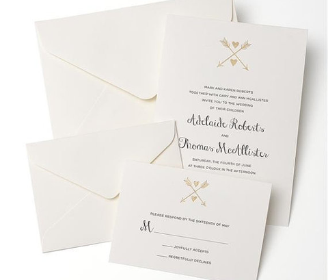 Heart & Arrow Invitation Suite