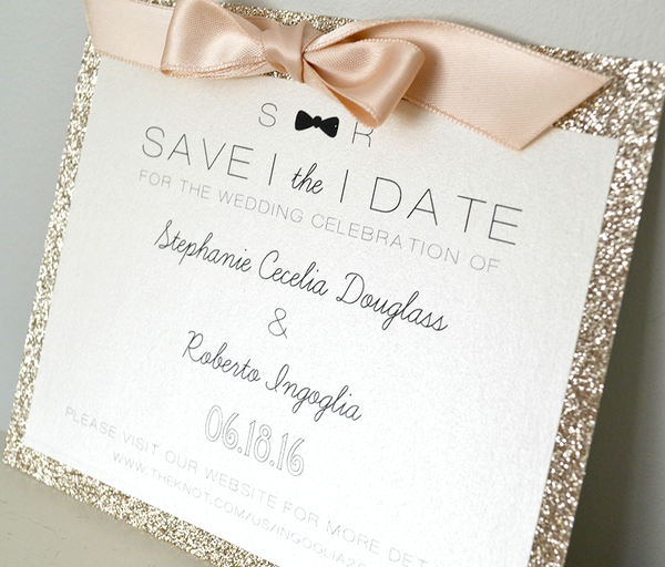 Bow-Tie Save the Date