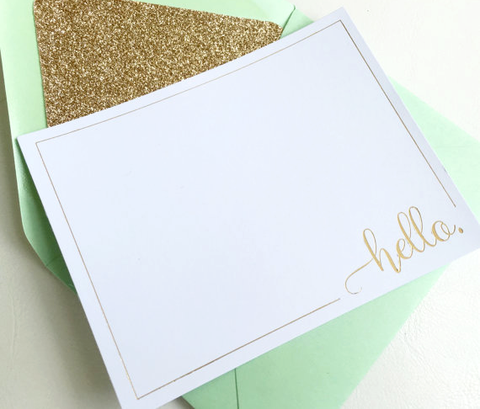"""Hello"" - Stationary Set"
