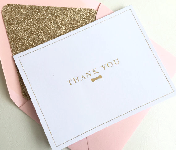 Bow Tie Thank You Cards