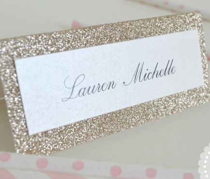 Glitter Place Cards