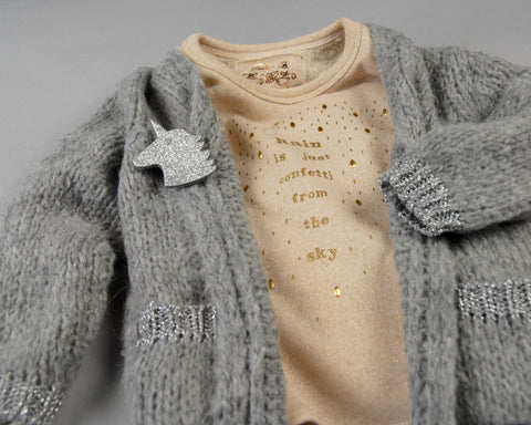 Cardigan Loose Grey / Silver