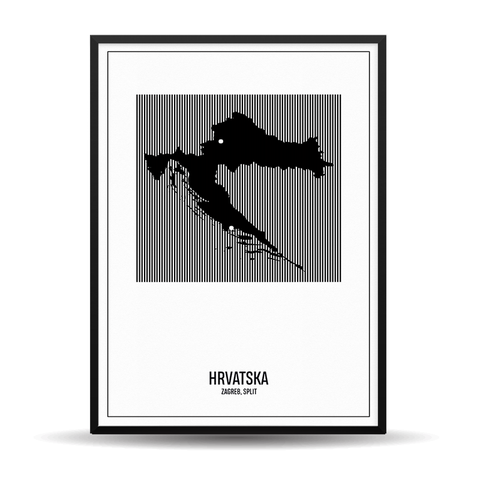 Rustic Map - BiH