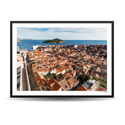 x Designio PhotoWall (HR) - Roofs Of Dubrovnik