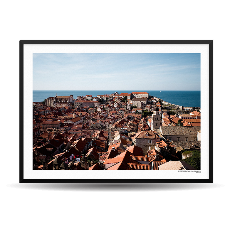x Designio PhotoWall (HR) - The Roofs & The Croatian Sea