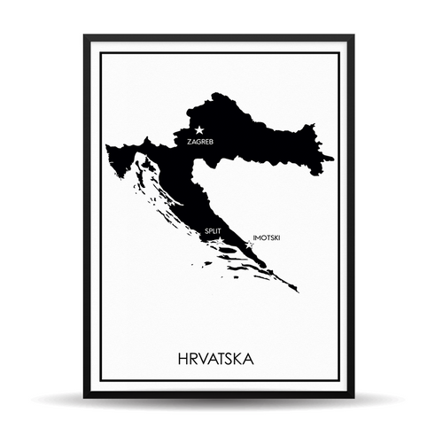The Map Black HR - (Vaš Grad Na Karti)