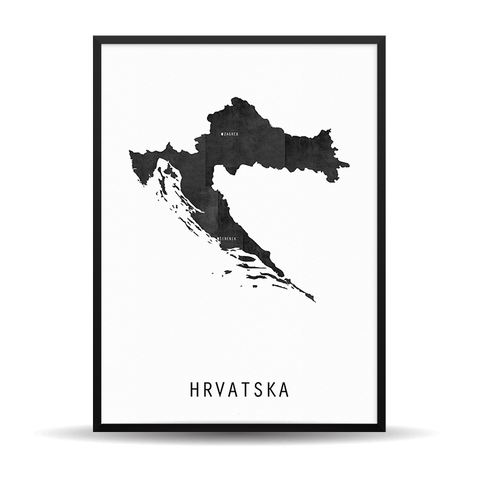 The Map White (HR) - (Vaš Grad Na Karti)