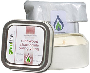Rosewood Chamomile Ylang Ylangl Massage Candle, Travel Size (2 fl oz)