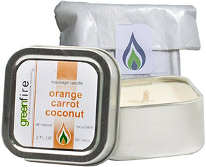 Orange Carrot Coconut Massage Candle, Travel Size (2 fl oz)