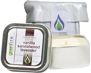 Lavender Sandalwood Vanilla Massage Candle, Travel Size (2 fl oz)