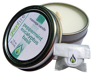 Peppermint Eucalyptus Basil Massage Candle, Travel Size (1 fl oz)