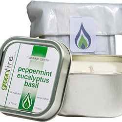 Peppermint Eucalyptus Basil Massage Candle (4 fl oz)