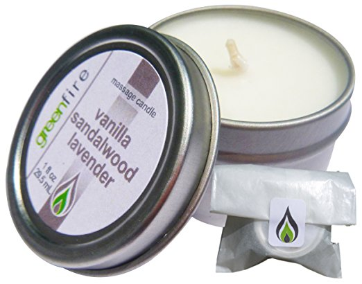 Lavender Sandalwood Vanilla Massage Candle, Travel Size (1 fl oz)