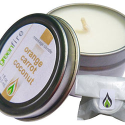 Orange Carrot Coconut Massage Candle, Travel Size (1 fl oz)