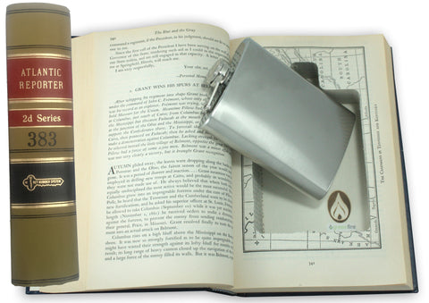 SneakyBooks Law Book Hidden Flask