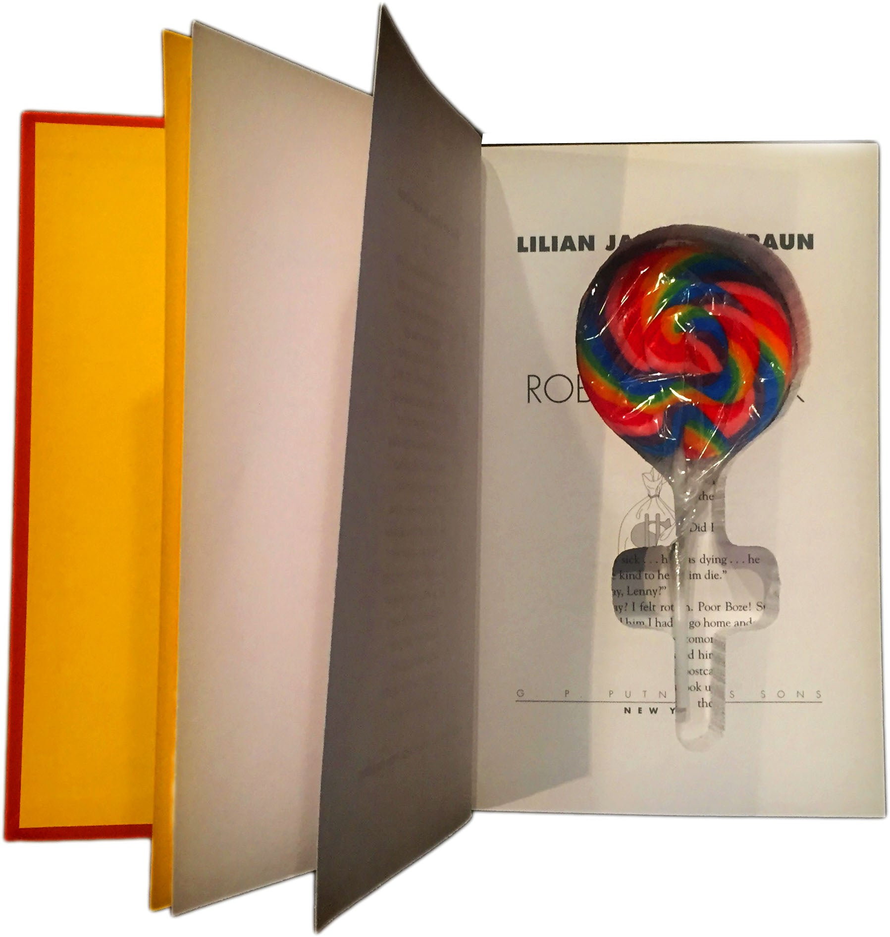 SneakyBooks Hidden Lollipop Diversion Safe and Candy Stash Book (hide secret things)