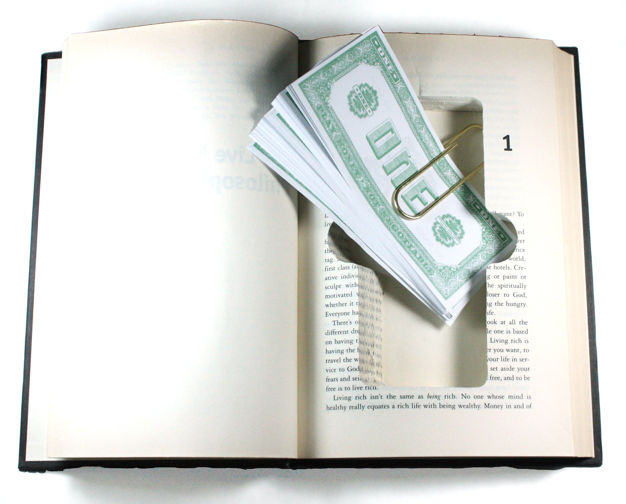 SneakyBooks Hidden Money Book with Money Clip
