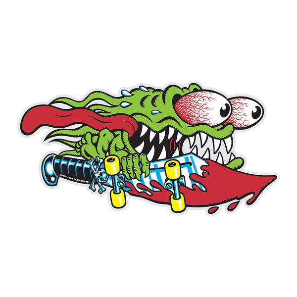 Santa Cruz Slasher Sticker 6.25 in x 3.25 in