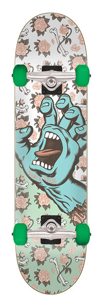 8.00in x 31.25in Floral Decay Hand Full Santa Cruz Skateboard Complete