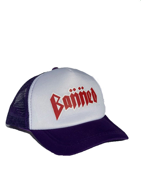 BANNED  Metal Trucker Cap