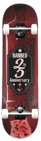 BANNED LABEL 25 Skateboard COMPLETE