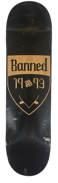 Banned Shield Reversed Skateboard Deck