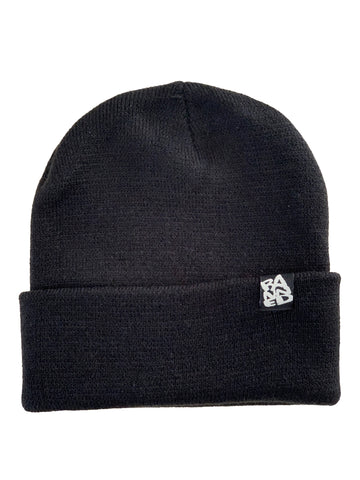 BANNED Narrow Yarn Black Beanie