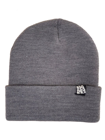 BANNED Narrow Yarn Grey Beanie