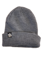 BANNED Wide Yarn Grey Beanie