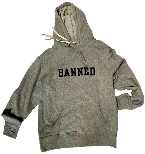 BANNED COLLEGE  Felt Pullover Hoodie