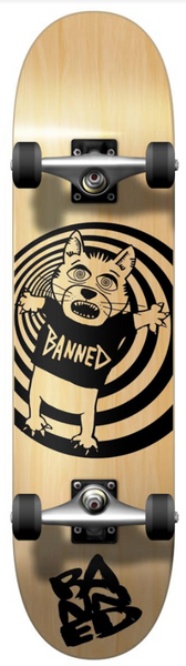 BANNED Cat Bear Skateboard Complete