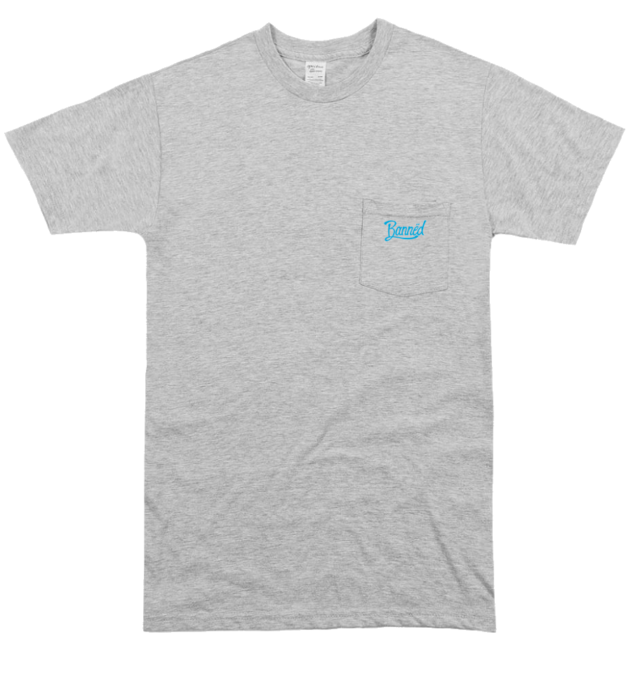BANNED Cursive SS Pocket T-Shirt Series