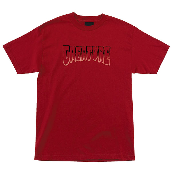 CREATURE Logo Outline Regular S/S Creature Mens T-Shirt Cardinal