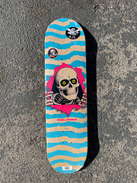 Powell Peralta 8.25 Ripper Deck - Natural/blue
