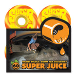 OJ WHEELS 60mm Danny Dicola Super Juice Orange Yellow Swirl 78a OJ Skateboard Wheels