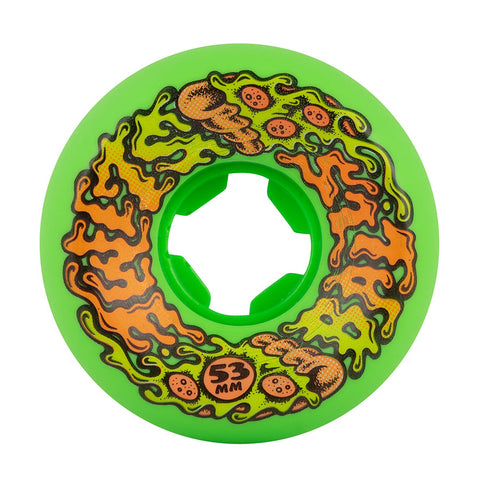 SLIME BALLS 53mm Pukaroni Vomit Mini Green 97a Slime Balls Skateboard Wheels