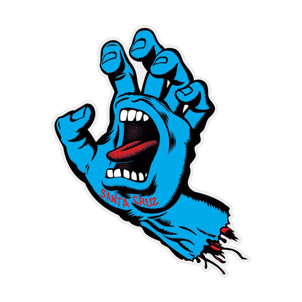 Santa Cruz BIG Screaming Hand Sticker 7.9 in x 10 in