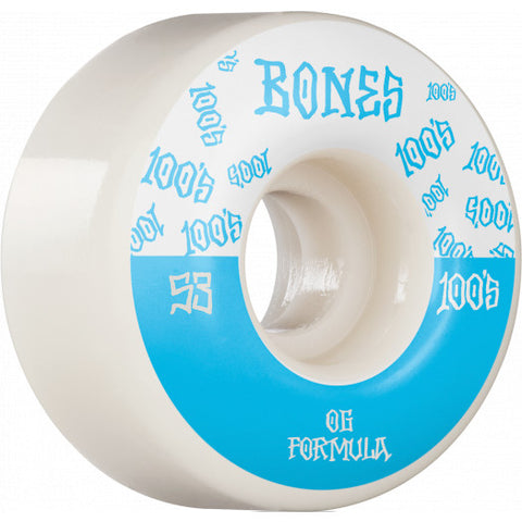 BONES WHEELS OG Formula Skateboard Wheels 100  53mm V4 Wide 4pk White