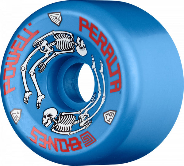 Powell Peralta G-Bones Skateboard Wheels 64mm 97a - Blue (4 pack)