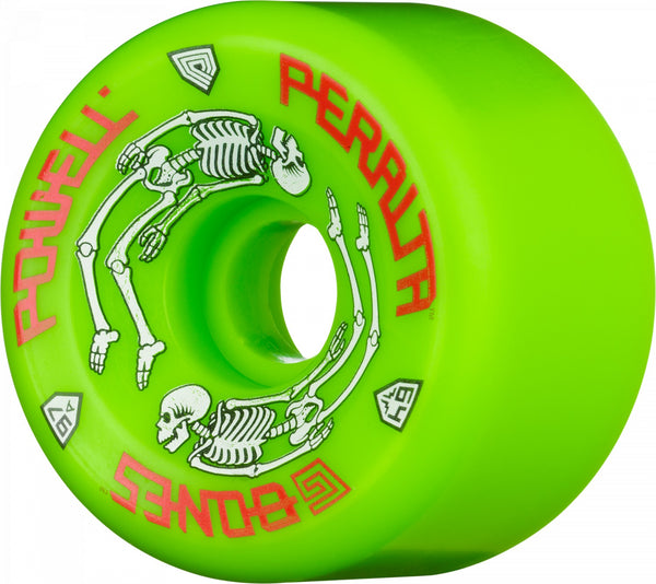 Powell Peralta G-Bones Skateboard Wheels 64mm 97a - Green (4 pack)