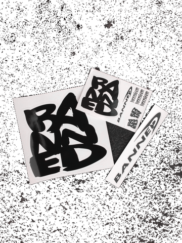 BANNED Large Sticker Sampler