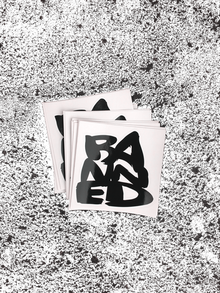 "BANNED Large Sticker 8""x 8"""