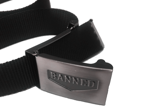 BANNED OG Adjustable  Nylon Web Belt