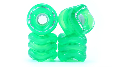 Shark Wheel 60MM, 78A TRANSPARENT GREEN CALIFORNIA ROLL
