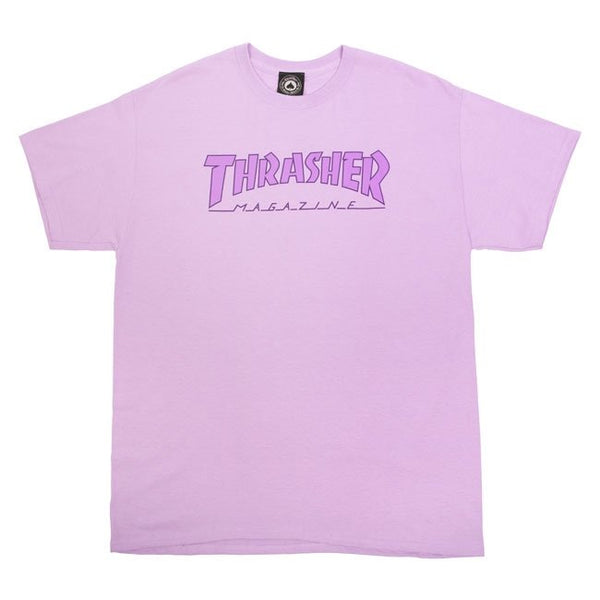 Thrasher Outlined T-Shirt (Orchid)