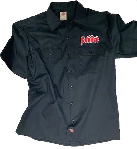 BANNED / Dickies Collab Garage Shop Shirt Black S/S Shirt
